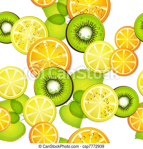 Seamless pattern with fruits - csp7772939