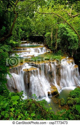 tropical, cascada, magnífico - csp7773473