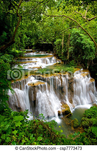 tropicais, Cachoeira, grandioso - csp7773473