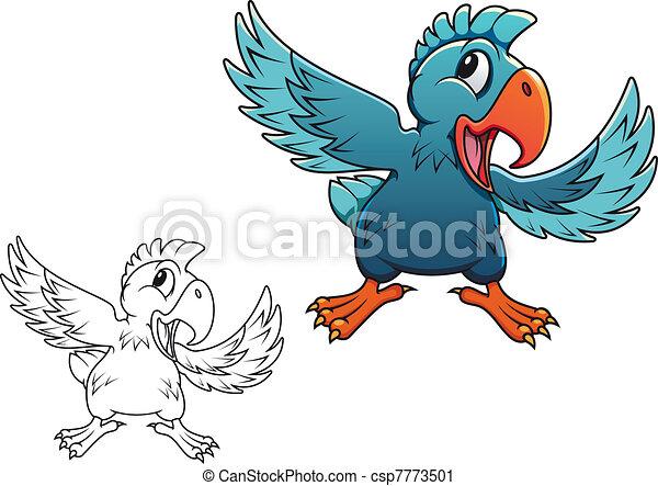 Cartoon parrot - csp7773501