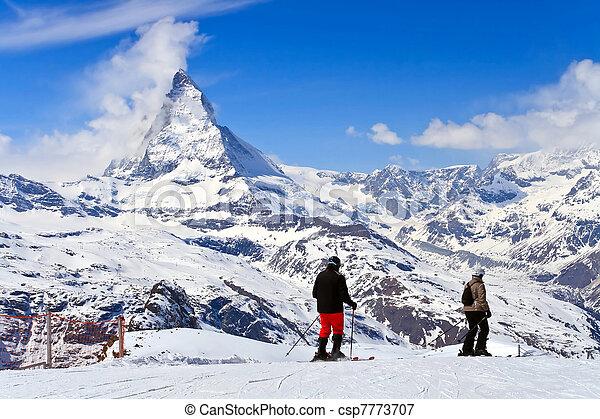 Sjier at Matterhorn Switzerland - csp7773707
