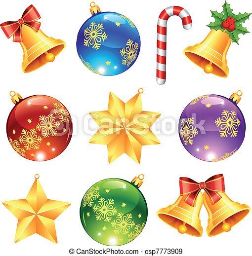 Bright Christmas decorations - csp7773909