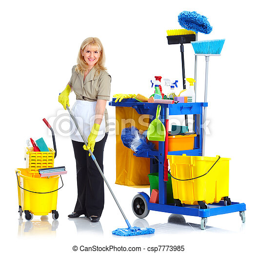 Cleaner maid woman. - csp7773985