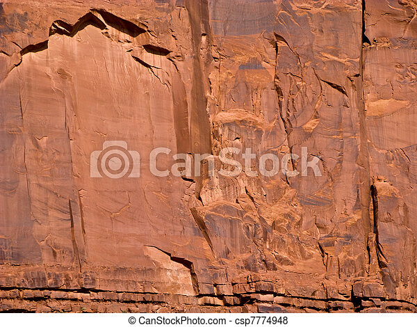 giant sandstone formation in the Monument valley in the intensive afternoon light - csp7774948
