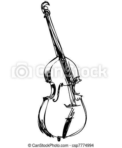 musical instrument orchestra large violin bass - csp7774994
