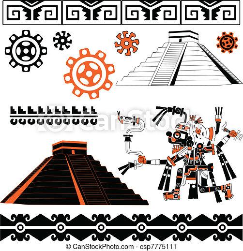 Mayan ornaments - csp7775111
