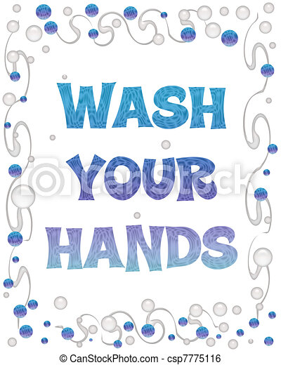 Stock Illustration of wash your hands bubbles - bubbles and ...