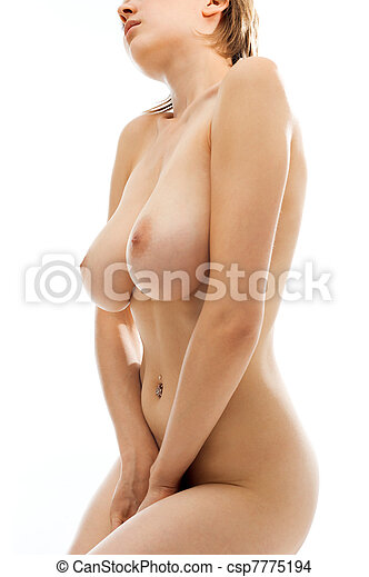 Naked woman with big breast. - csp7775194