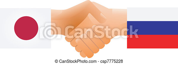 Sign of friendship the Russia and Japan - csp7775228