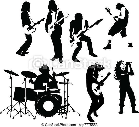rock musicians - csp7775553