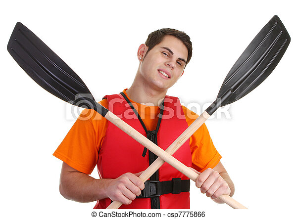 A guy with crossed oars - csp7775866