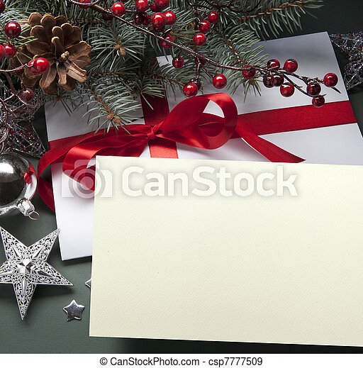 kunst, weihnachtskarte, gruß - csp7777509