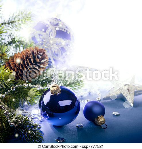 Art Christmas greeting card - csp7777521