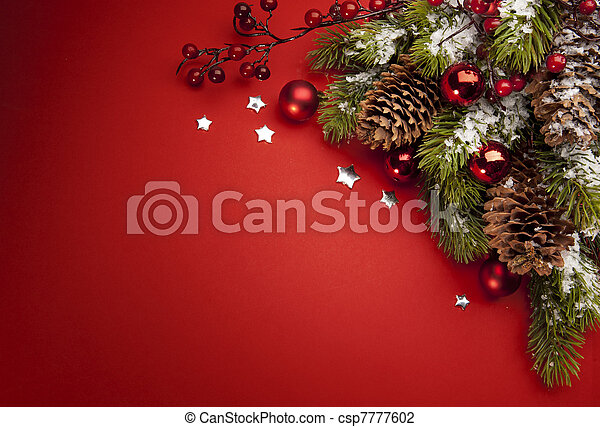 Art Christmas greeting card - csp7777602