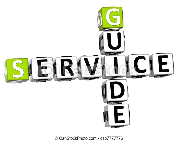 3D Service Guide Crossword - csp7777776