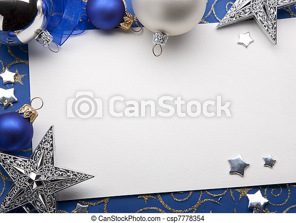 Christmas greeting card - csp7778354