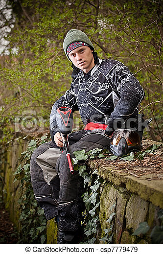 Paintball player - csp7779479