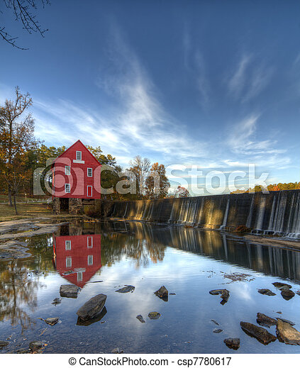 Mill on a Dam - csp7780617