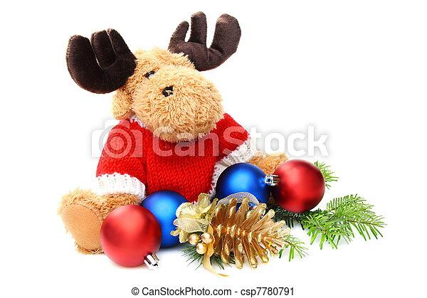 Kugeln, weich, Weihnachten, Spielzeuge - csp7780791