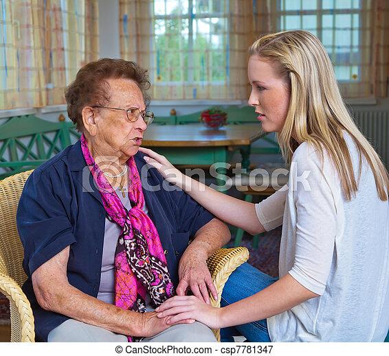 grandchildren visited grandmother - csp7781347