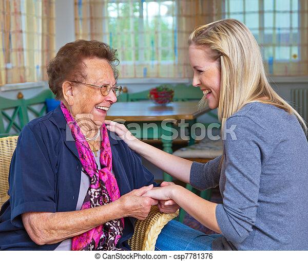grandchildren visited grandmother - csp7781376