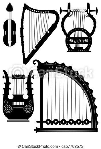 antique strings instruments - csp7782573