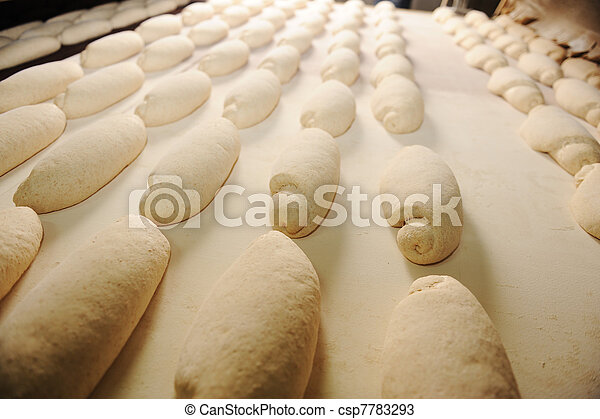 In bread bakery, food factory - csp7783293