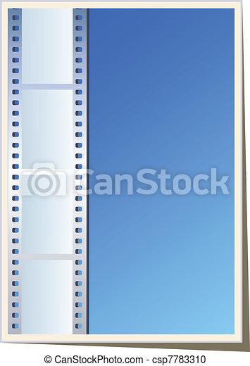 Blank photo, video template - csp7783310