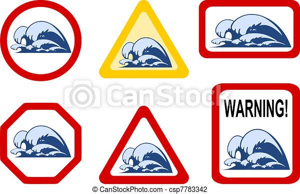 Danger nature - wave breaker - csp7783342