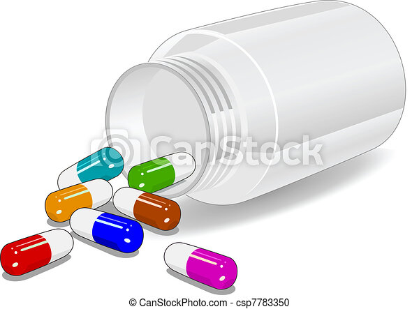Medicine on white background - csp7783350
