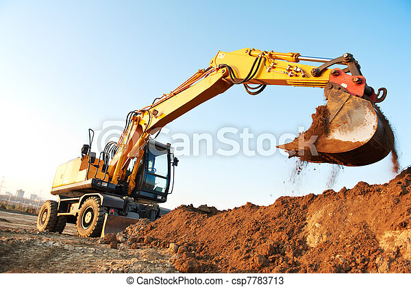 wheel loader excavator - csp7783713