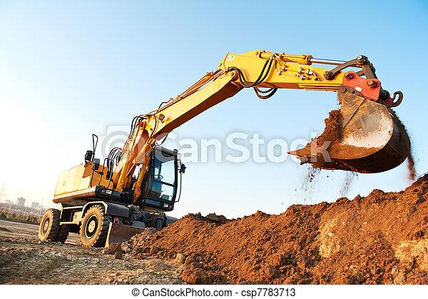 wheel loader excavator - csp7783713
