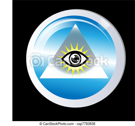 Triangle eye of god protection - csp7783838