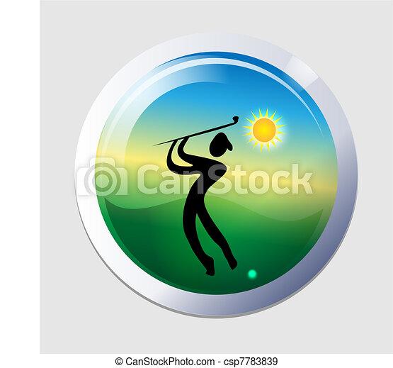 Golfer men icon - csp7783839