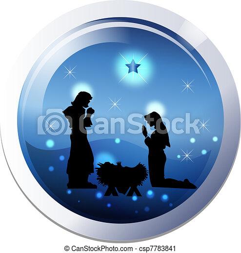 Christmas nativity 25th december  - csp7783841