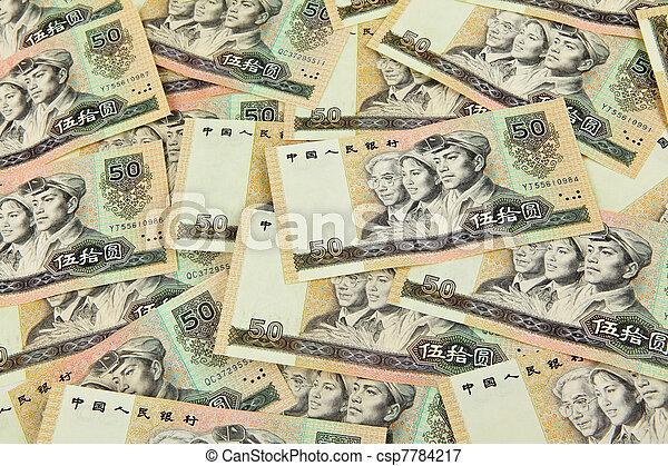 china fifty dollar banknote - csp7784217