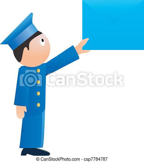 Small postman. vector - csp7784787
