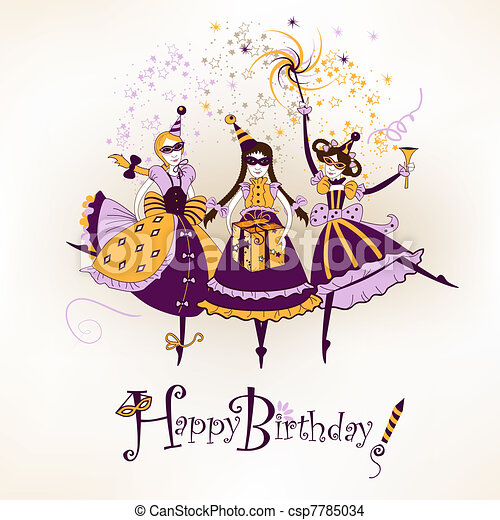 Happy birthday postcard - csp7785034