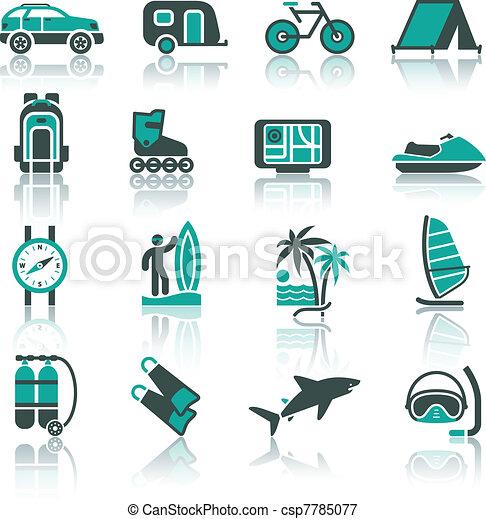 Vacation, Recreation & Travel, set - csp7785077