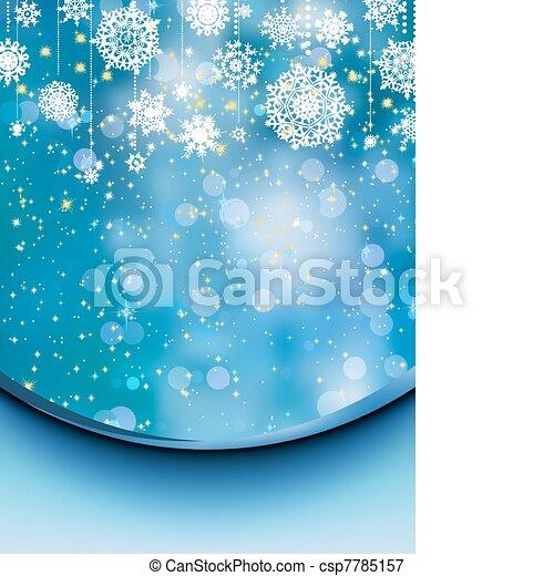 Elegant christmas background. EPS 8 - csp7785157