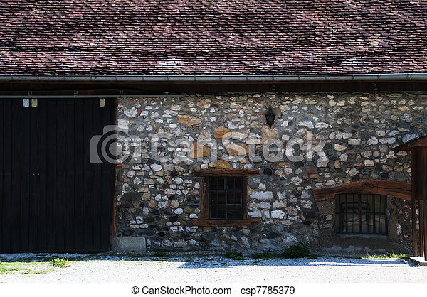 Old Savoyard house restored - csp7785379