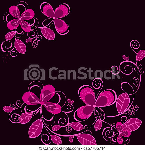 Abstract purple flower background - csp7785714