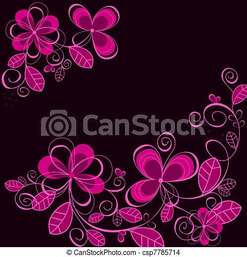 Abstract purple flower background - csp7785714