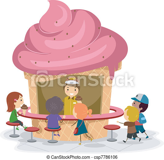 Ice Cream Stall - csp7786106