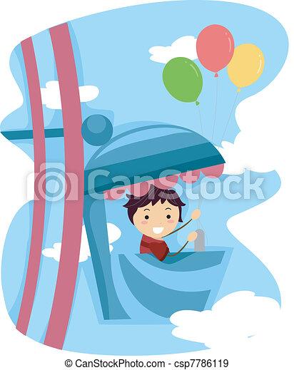 Ferris Wheel Kid - csp7786119