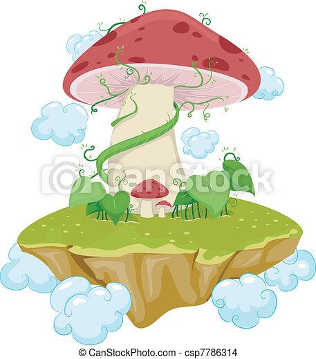 Mushroom Island - csp7786314