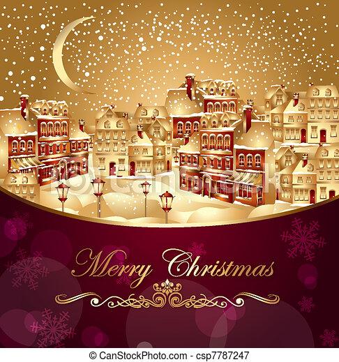 Christmas town - csp7787247
