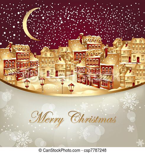 Christmas town - csp7787248