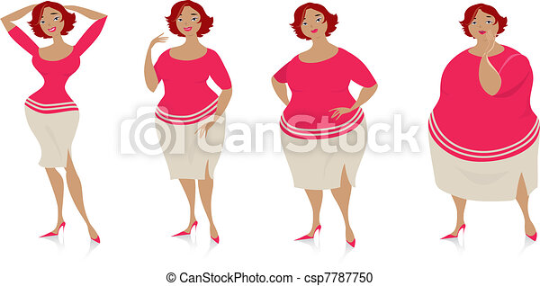 Changes of size after diet - csp7787750