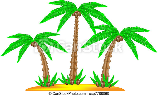 Tropical island with coconut palm - csp7788060